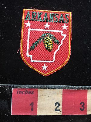 Vtg State Of ARKANSAS Patch ~ Red Version 71WO