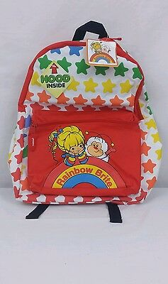 NEW Rainbow Brite Backpack With Twink Hood Red With Stars b