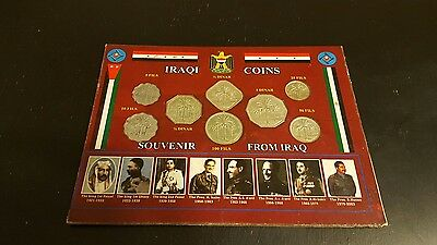 Iraqi coin Souvenir Set from Iraq Saddam Hussein Husan 8 coins
