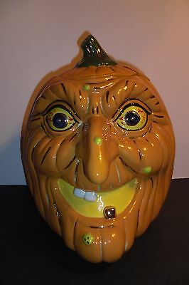 Shirley Corl Cookie Jar Ugly Pumpkin Witch 1993 16/25 Signed S. Corl