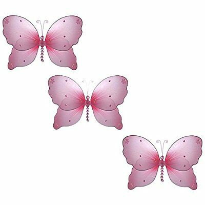 """The Butterfly Grove Emily Butterfly Decoration 3D Hanging Mesh Organza Nylon 11"""""""