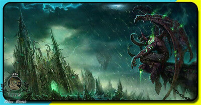 2017 World of Warcraft Illidan Stormrage Demon Hunter Mouse pad large size