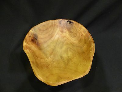 Hand Carved Burled Wood Bowl Knot