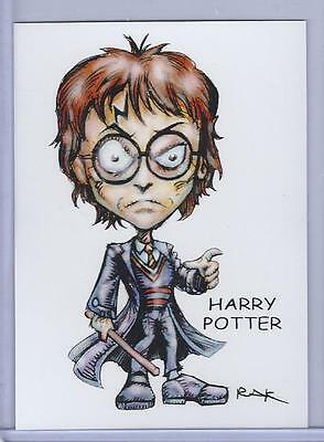 HARRY POTTER ** TRADING CARD ART by RAK ** HAND SIGNED ** NEAR MINT SEE MY STORE