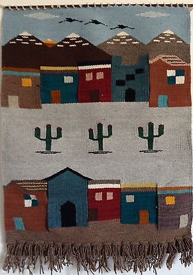 New Mexican Wall Hanging Native Folk Art Home Office Decor House w Cactus #WT-11