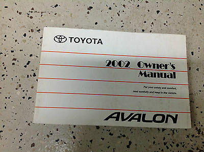 2002 toyota avalon owners manual 11 99 picclick rh picclick com 2004 toyota avalon owners manual download 2002 toyota avalon owners manual download
