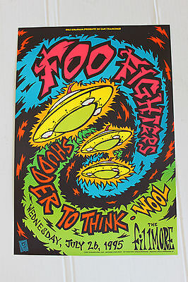 Foo Fighters 1995 Original Concert Poster from San Francisco Fillmore chris shaw