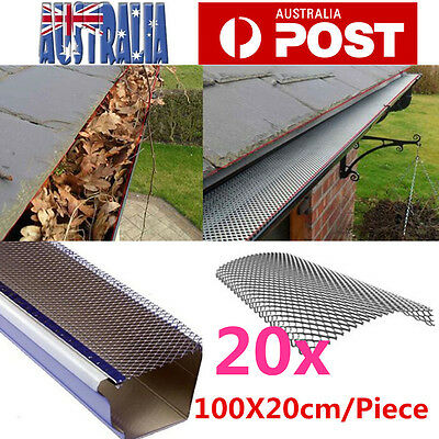 20m Gutter Guard Aluminium Deluxe Leaf Mesh- Keeps The Leafs Out 100cm x 20cm/pc