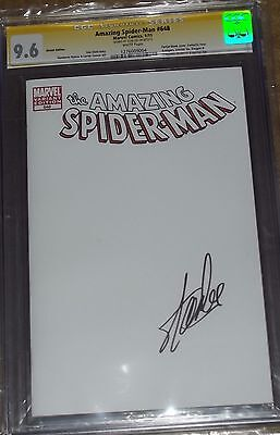 Amazing Spiderman 648 Blank Sketch Variant CGC 9.6 signed BY STAN LEE Marvel