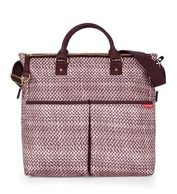 Skip Hop Plum Sketch Duo Luxe Baby Changing Bag + Changing Mat, NEW WITH TAGS
