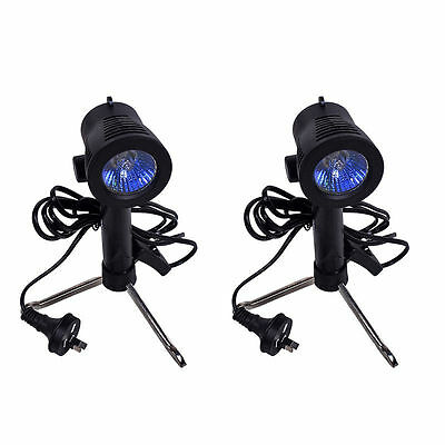 2 Pcs 50W 3200K Light Bulb Lighting Stand For Studio Video Softbox Backdrop AU