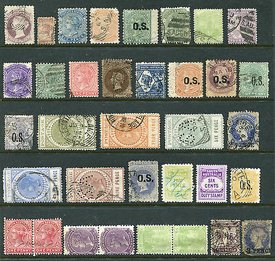 1855-1911 South Australia.  Unchecked selection of 35 state stamps.