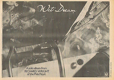 RICHARD WRIGHT ( PINK FLOYD ) Large press clipping 1978 approx30x40cm  (4/11/78)