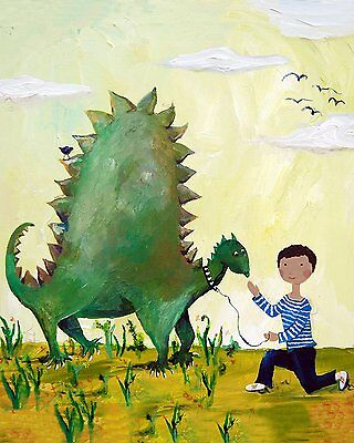 Cici Art Factory Wall Art, Dino African American, Small