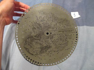 "VTG Olympia Dats de Way to Spell CHICKEN Len Spencer 10.5"" 10 1/2 Music Box Disc"