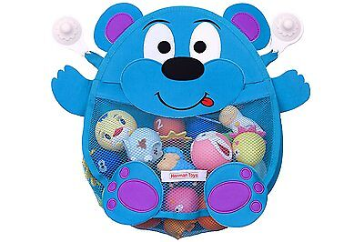 Herman Bear Infant Baby and Toddler Bath Toy Organizer and Holder with heavy