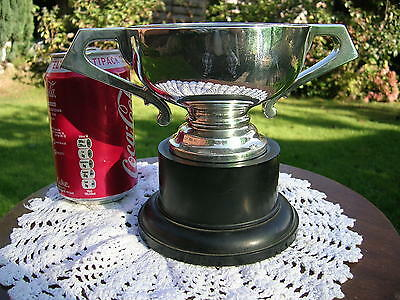 English Hallmarked Solid Silver Trophy Cup Chester 1918 Barker Bros