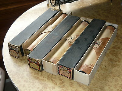 3x Antique Pianola Roll MARCH Mastertouch NO SURRENDER ~ Vintage Piano Music