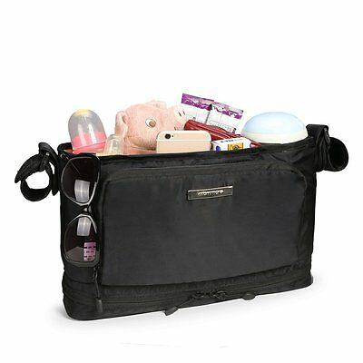 MOMMORE Stroller Organizer for Extra Large Storage with Waterproof Insulated Cup
