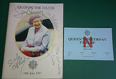 1997 - TROOPING THE COLOUR - QUEEN ELIZABETH'S 75th BIRTHDAY SIGNED PUBLICATION