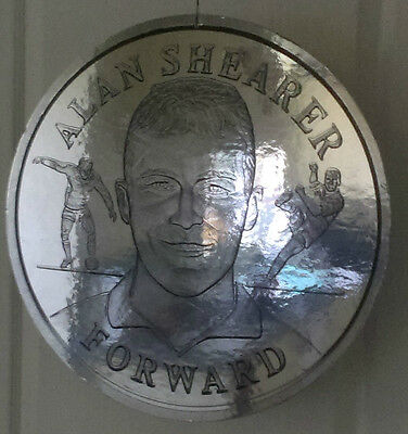 """1998 World Cup Finals - England - Alan Shearer - Special Display 19"""" Round Coin"""