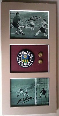 1954 -Sheffield Wed & England Players Montage- England Cuff-Links & County Badge