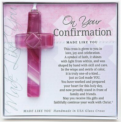 The Grandparent Gift Handmade Wall Hanging, Confirmation Cross Girl