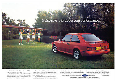 FORD ESCORT RS TURBO RETRO A3 POSTER PRINT FROM CLASSIC 80's ADVERT