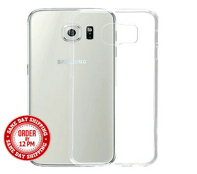 Ultra Slim Transparent Clear Silicone Gel Case Cover Skin For Samsung Galaxy S6