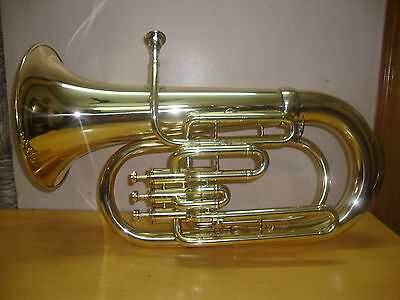 GREAT SALE OSWAL NEW BRASS Bb FLAT 3 VALVE EUPHONIUM FREE CASE+M/P+FAST SHIPPING