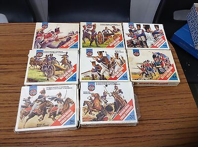 Airfix Waterloo Soldier Collection Eight Boxes 1970s Figures From Assault Set