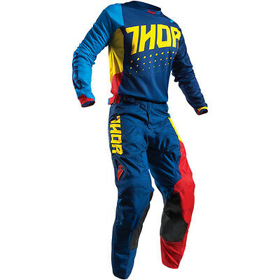 Thor Impulsi Aktiv MX Enduro Pantaloni Di Combinata+Shirt Fox Motocross MTB