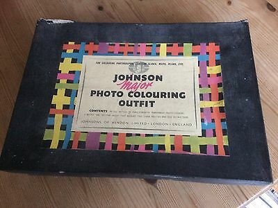 Vintage Johnson Major Photo Colouring Outfit for colouring photos, slides, maps