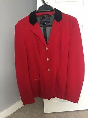 Red Kingsland show Jumping  jacket small