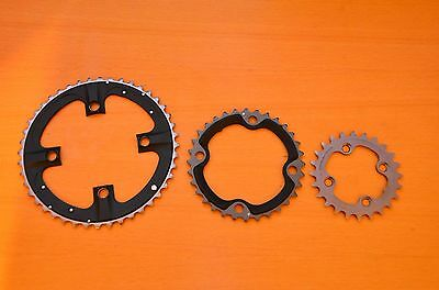 New Shimano XTR M970 Triple Chainrings Chainring Rings 44/32/24 9 speed 104/64