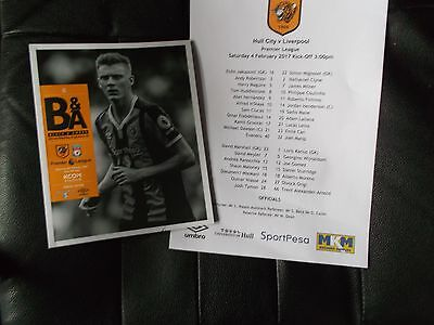 HULL CITY V LIVERPOOL Premier league Match Programme new 2016/17  sell out!