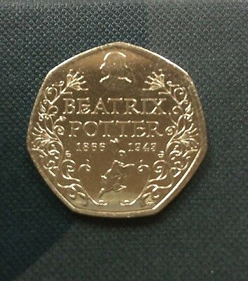 BEATRIX POTTER RARE 50p UNCIRCULATED