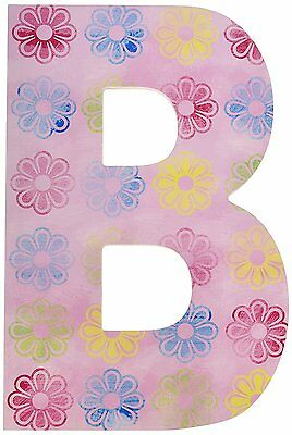 The Kids Room by Stupell Pink Modern Flower Hanging Wall Initial, B