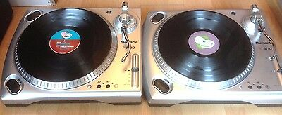 "2 X Numark Tt1610 Turntables & 10 X New 12"" Vinyl Records Decks Party Rave Dj"