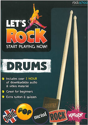 Rockschool - Let's Rock Start Playing Now - Drums - RSK121303  ***** NEW