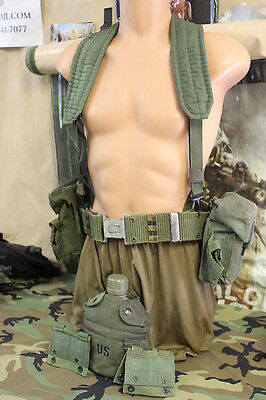 14 PC LC-2 ALICE Belt Pouches w/Clips Suspenders Canteen Molle Adapters Belt ext