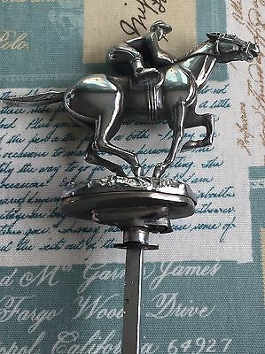 Car Bonnet Mascot Of Jockey And Horse From Desmo 1940/50s Excellent Condition