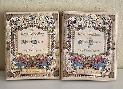 2 x 1981 - STANLEY GIBBONS - Royal Wedding Stamps Collection Albums