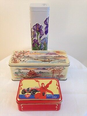 3 Collectable / Vintage / Retro Biscuit / Film Tins.