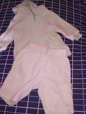 George girls first size hooded jacket and pants green
