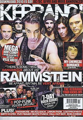 RAMMSTEIN / MY CHEMICAL ROMANCE / PARAMORE Kerrang no. 1297 Jan 30 2010