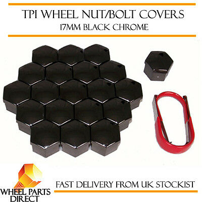 Black Wheel Bolt Nut Covers GEN2 17mm For VW Scirocco Mk2 81-85