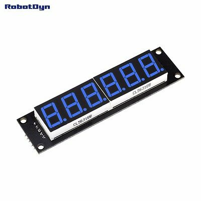 6-Digit LED Display Tube, 7-segments,74HC595, BLUE for Arduino Color Rare Item A