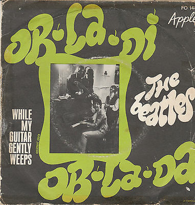 "The Beatles-Ob la di Ob la da/While my guitar gently weeps French 7"" Single"