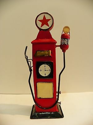 Gas Oil Pump Gasoline Vintage Retro Tin Handmade Money Box Bank Home Collectib